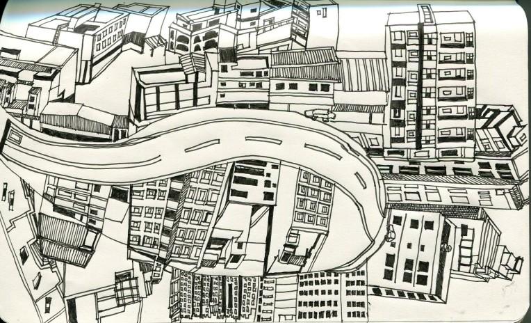 City Scene_B&W001